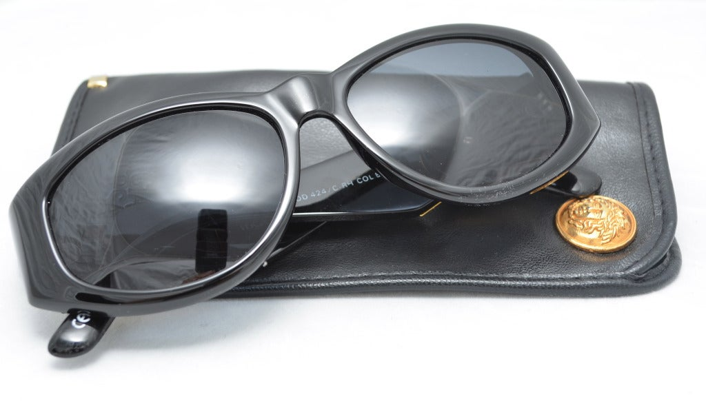 Versace Medusa Sunglasses  vintage gianni versace gold medusa sunglasses mod 424 crhcol852bk