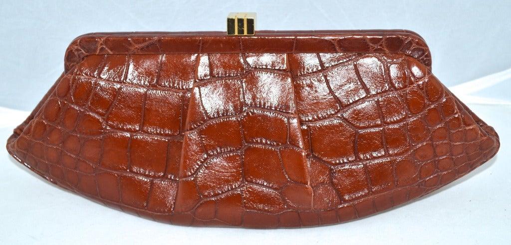 Lambertson Truex Crocodile Clutch $3,600 retail