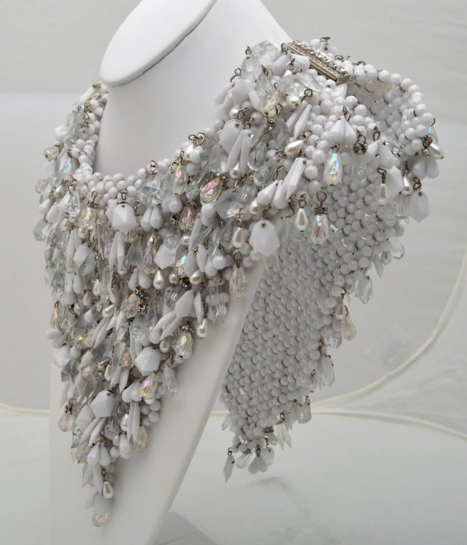 Massive 2 Sided 1960's Beaded Collar 5