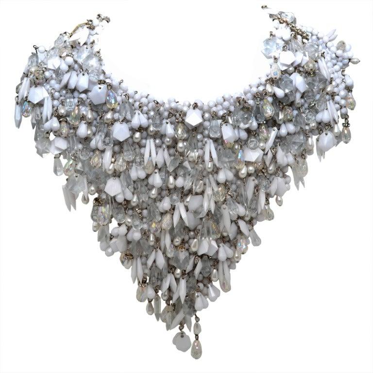 Massive 2 Sided 1960's Beaded Collar 1