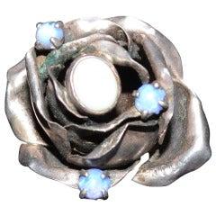 Rachel Gera Large Modernist Sterling Ring