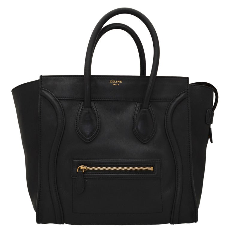 Celine Black Luggage Handbag For Sale