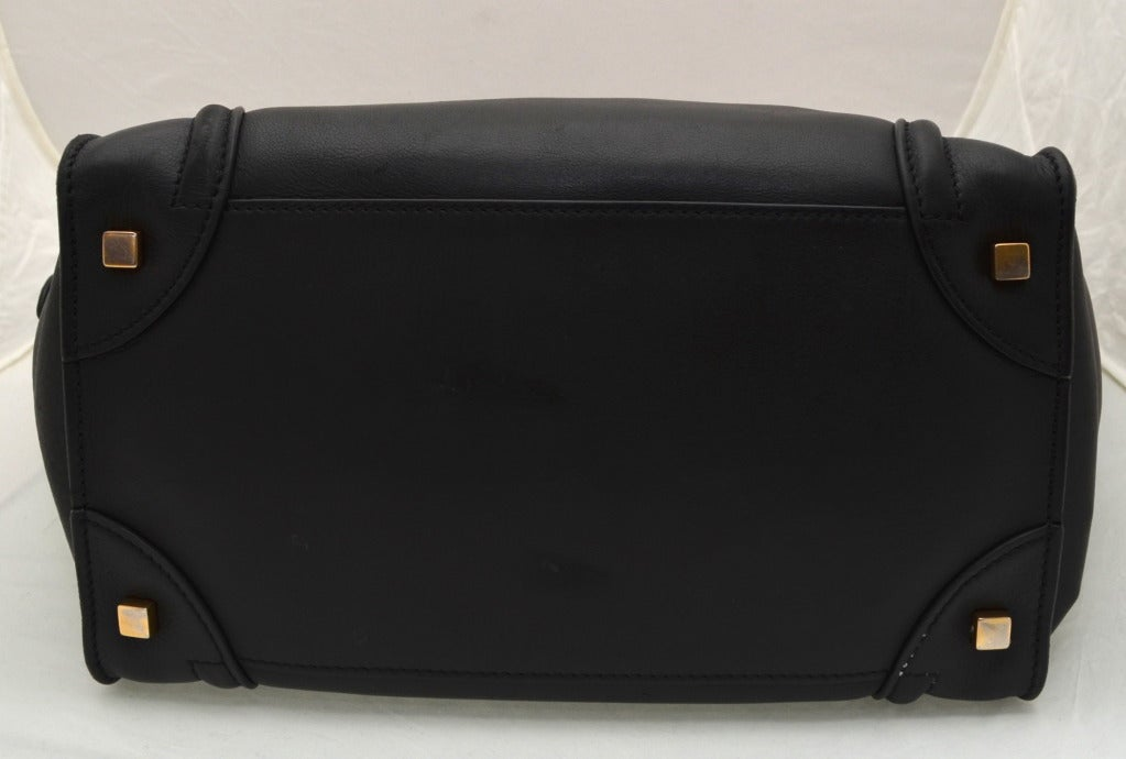 Celine Black Luggage Handbag For Sale 1