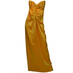Yves Saint Laurent Haute Couture Silk Satin Gown Patron Original