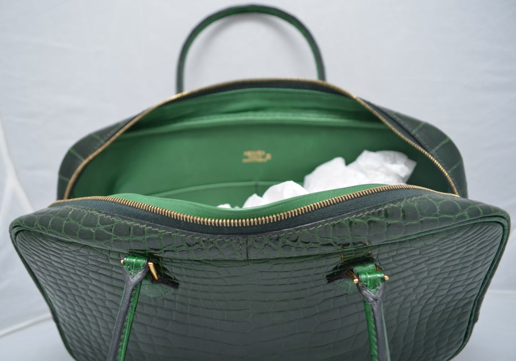 used hermes birkin bag for sale - Hermes Paris Vert Fonce Dark Green Crocodile 28 cm Plume Handbag ...