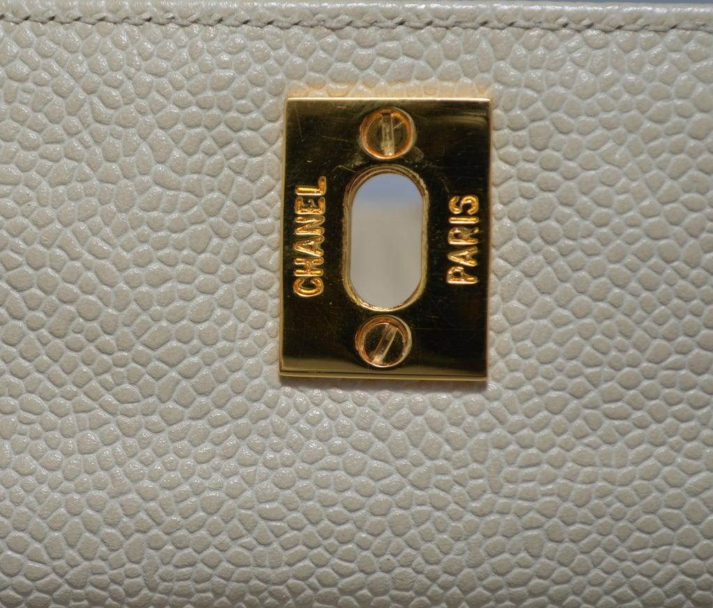Chanel Caviar Large Drawstring Tote Chunky Gold Hardware 10