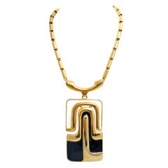 Pierre Cardin Modernist Large Pendant Necklace 1960's