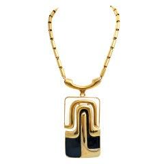 Pierre Cardin Modernist Large Pendant Necklace 1960's