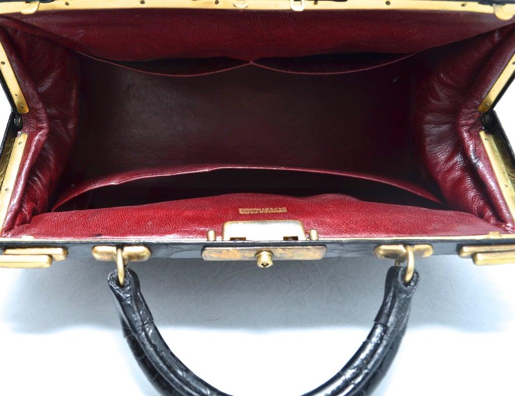 hermes rare vintage rouge sac mallette handbag