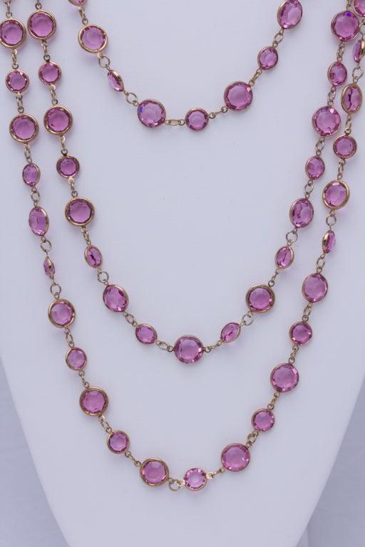 "Chanel 96"" Long Vintage 1981 Crystal Sautoir Necklace 3"