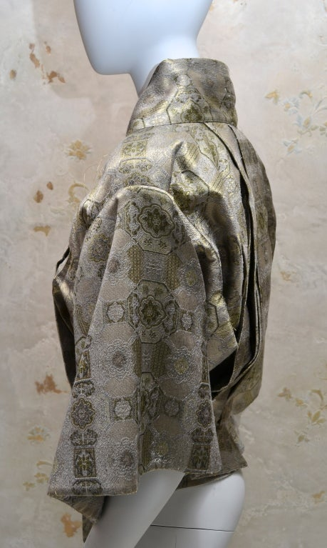 Gray Alexander McQueen Brocade Kimono Jacket & Bustier 2003 For Sale