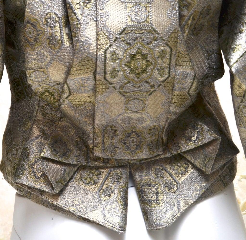 Alexander McQueen Brocade Kimono Jacket & Bustier 2003 In Excellent Condition For Sale In Carmel by the Sea, CA
