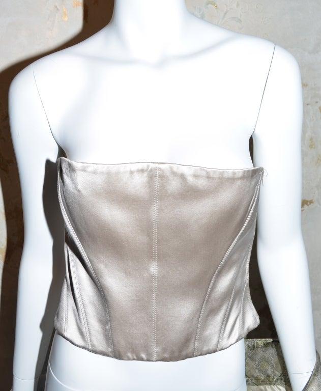 Alexander McQueen Brocade Kimono Jacket & Bustier 2003 For Sale 2