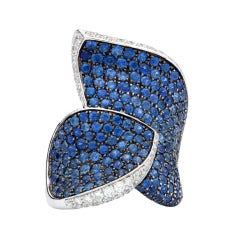 Salavetti Sapphire & Diamond Cocktail Ring