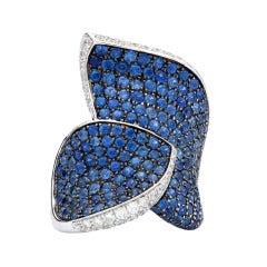Salavetti Sapphire & Diamond Cocktail Ring