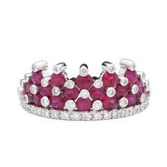 Favero Ruby & Diamond Crown Ring