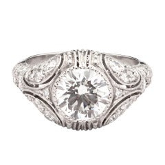 2.01ct Round Cut GIA Diamond Ring