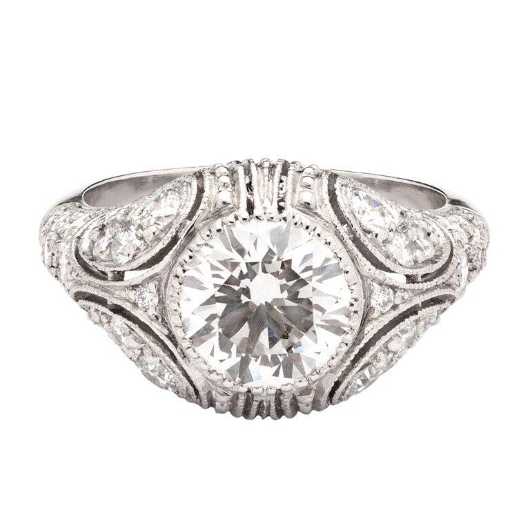 2.01 Carat Round Cut GIA Diamond Ring