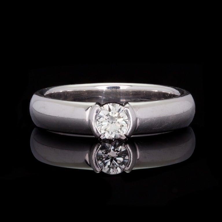 Tiffany & Co Etoile Solitaire Diamond Ring 2