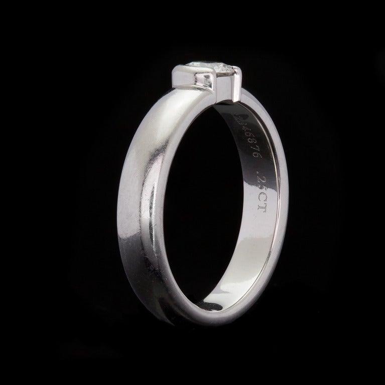Tiffany & Co Etoile Solitaire Diamond Ring 4