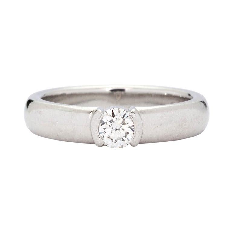 Tiffany & Co Etoile Solitaire Diamond Ring 1