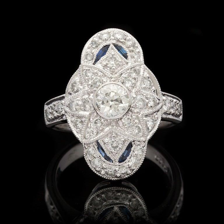 Diamond & Sapphire Dinner Ring 2