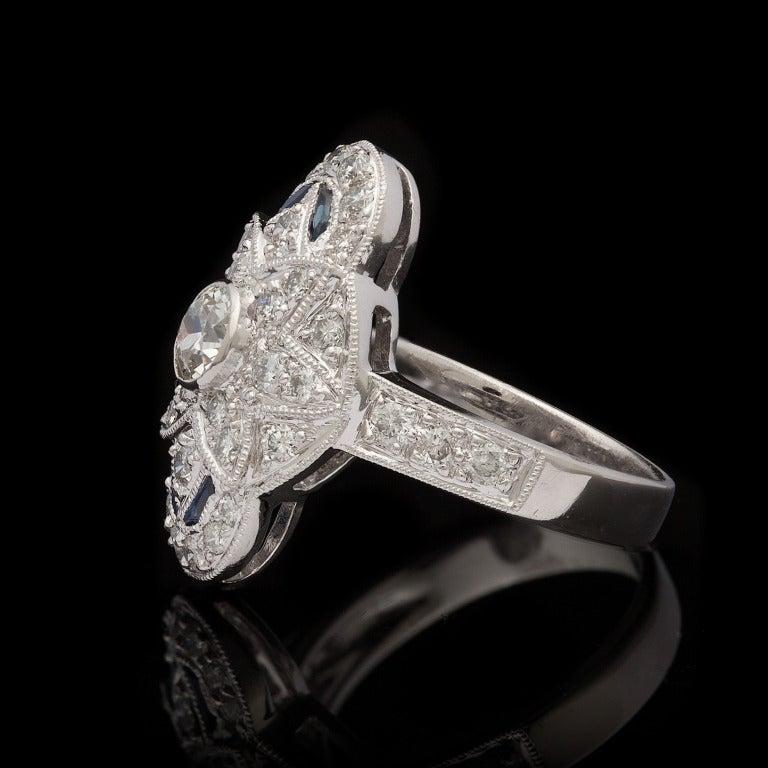 Diamond & Sapphire Dinner Ring 3