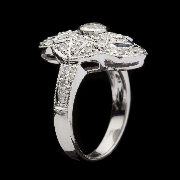 Diamond & Sapphire Dinner Ring 4