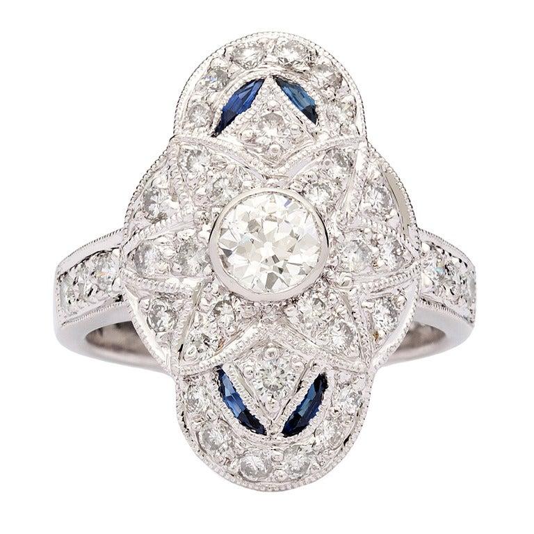 Diamond & Sapphire Dinner Ring 1