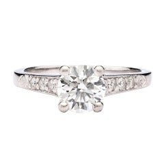 Round Brilliant Cut GIA Diamond Ring