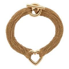 Tiffany & Co. Mesh Heart Bracelet