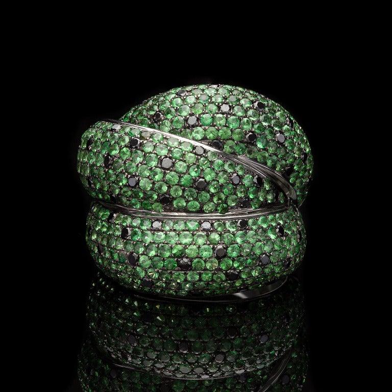 Salavetti Tourmaline Black Diamond Ring 2