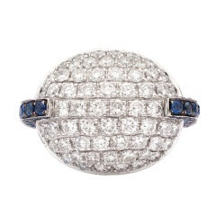 Favero Diamond & Sapphire Cocktail Ring