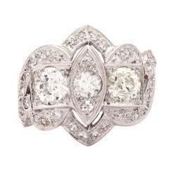European Cut Diamond Ring