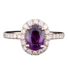 2.14ct Purple Sapphire & Diamond Ring