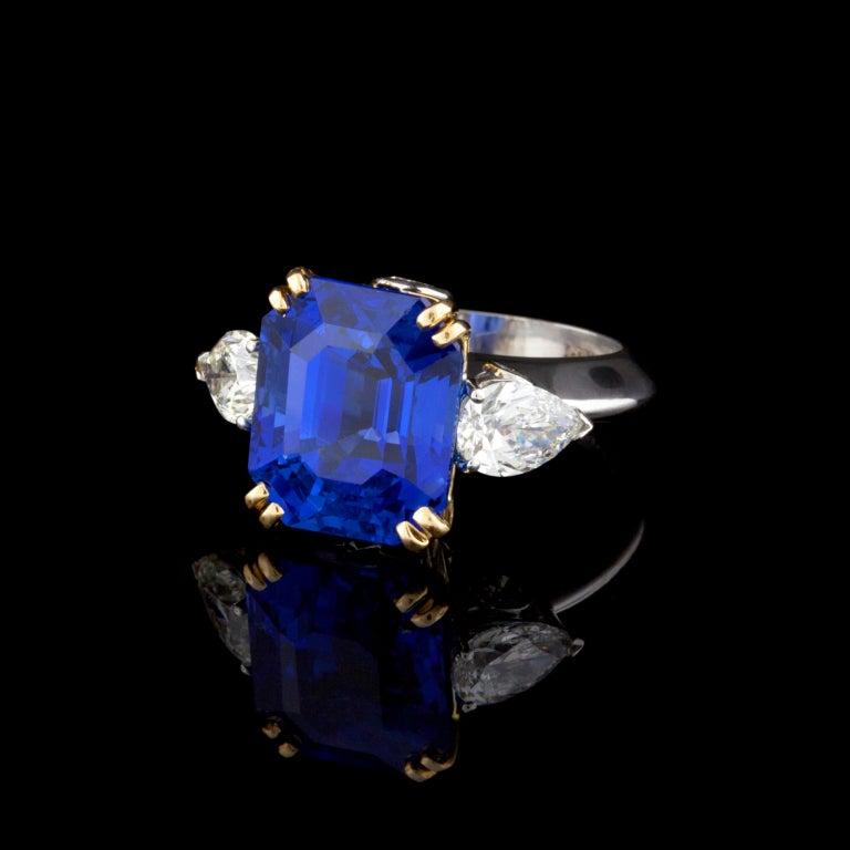 Superb Bulgari 13.61ct Sapphire and Diamond Ring 2