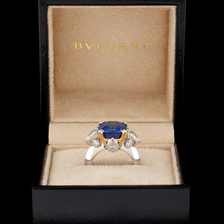Superb Bulgari 13.61ct Sapphire and Diamond Ring 3