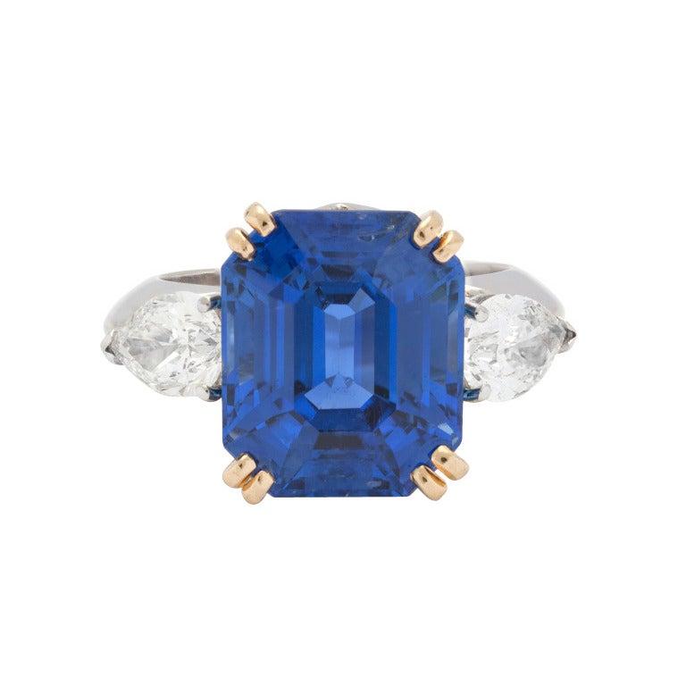 Superb Bulgari 13.61ct Sapphire and Diamond Ring 1