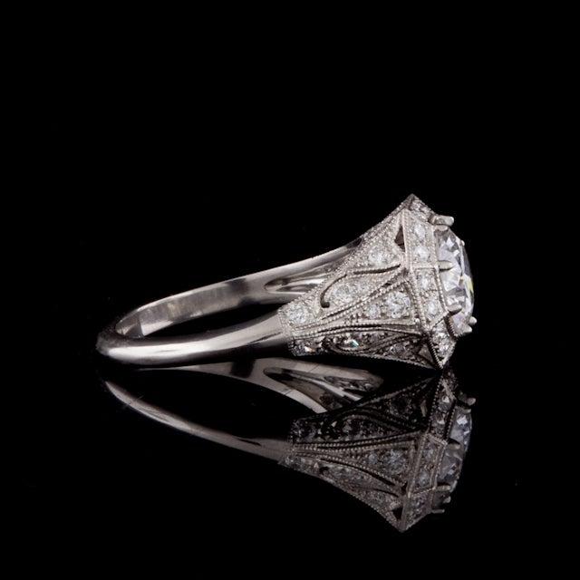 Women's 2.10ct Round GIA Diamond Ring For Sale