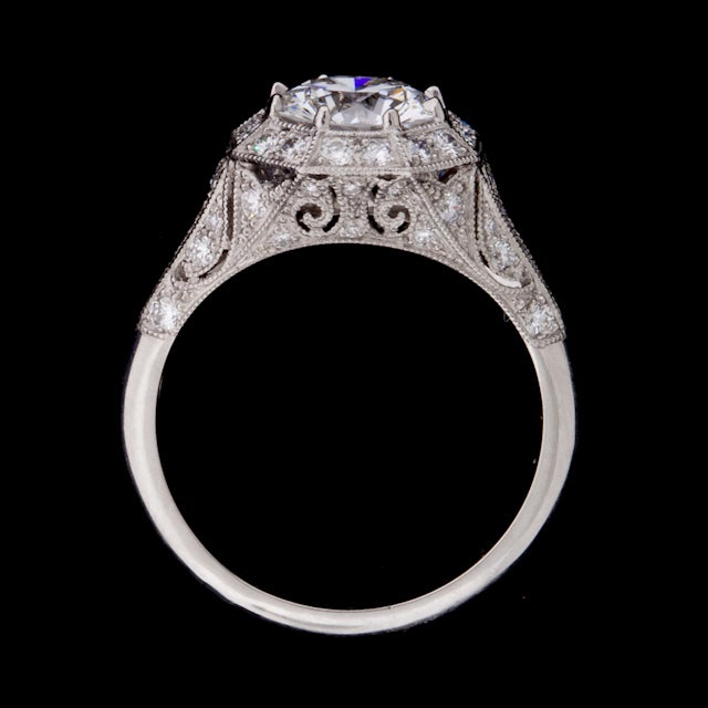 2.10ct Round GIA Diamond Ring For Sale 1