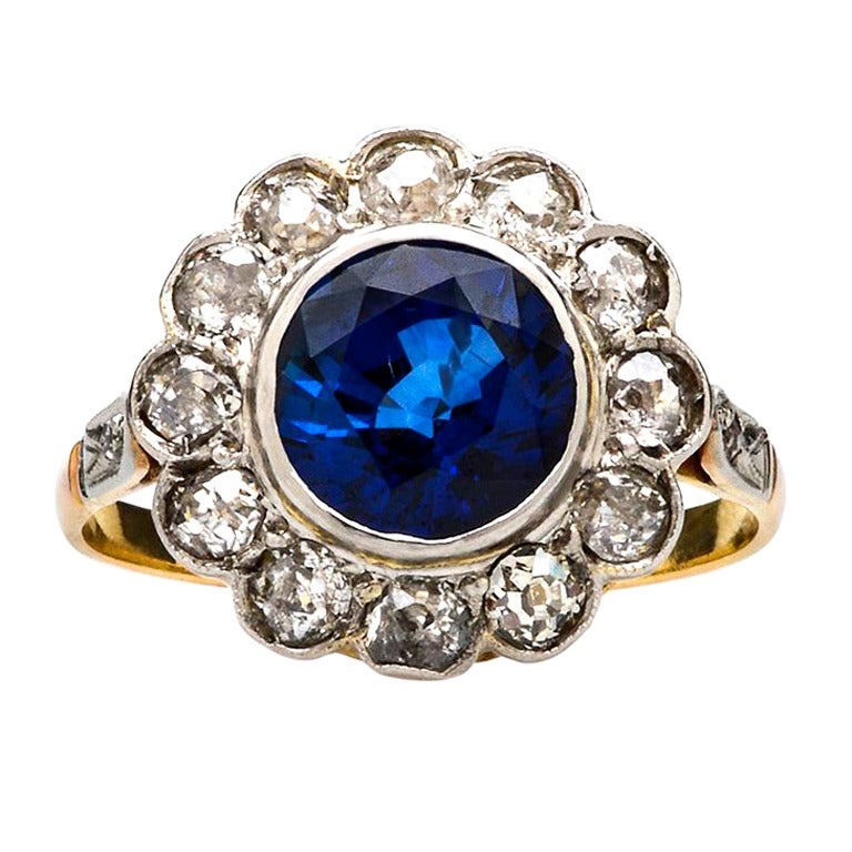 ceylon sapphire engagement ring at 1stdibs