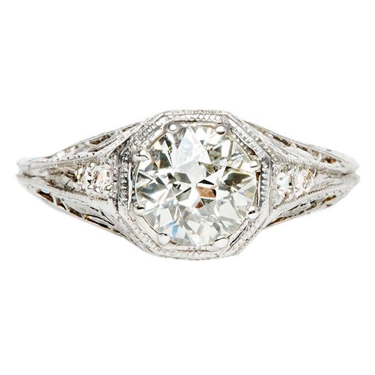 platinum edwardian engagement ring at 1stdibs