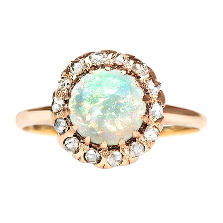 opal engagement ring at 1stdibs