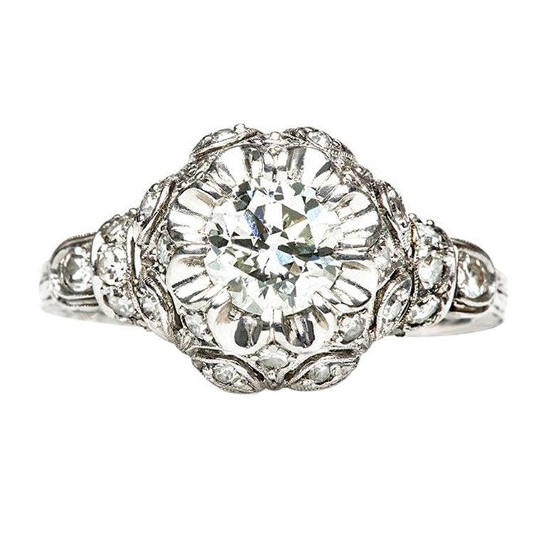 platinum edwardian engagement ring
