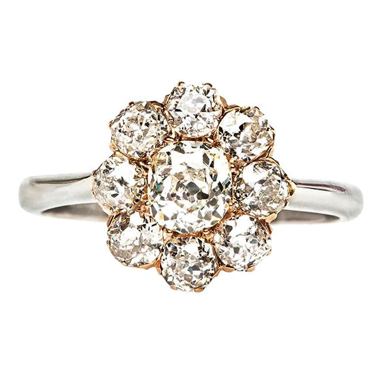 cluster engagement ring at 1stdibs
