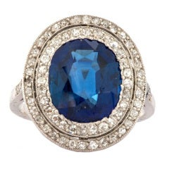 Belle Epoque Sapphire Diamond Platinum  Ring