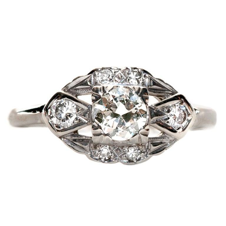 39 carat gold deco engagement ring at 1stdibs