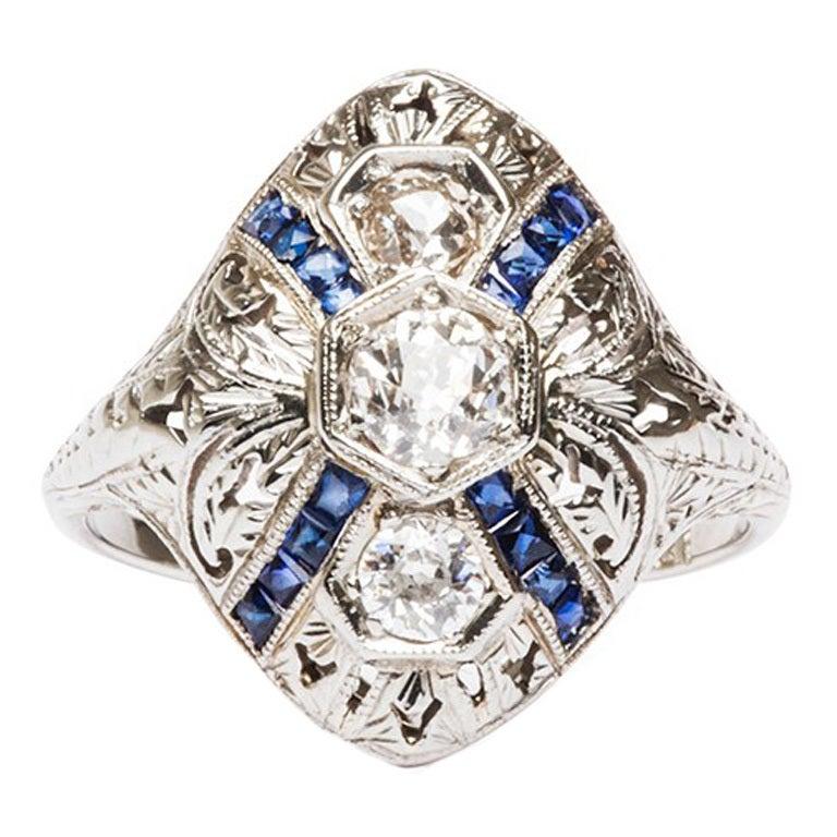 Demi Ring Edwardian Engagement