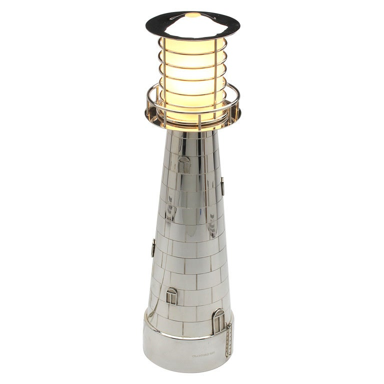 Silver Lighthouse Table Lamp At 1stdibs