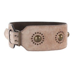 ALAIA suede belt with brass